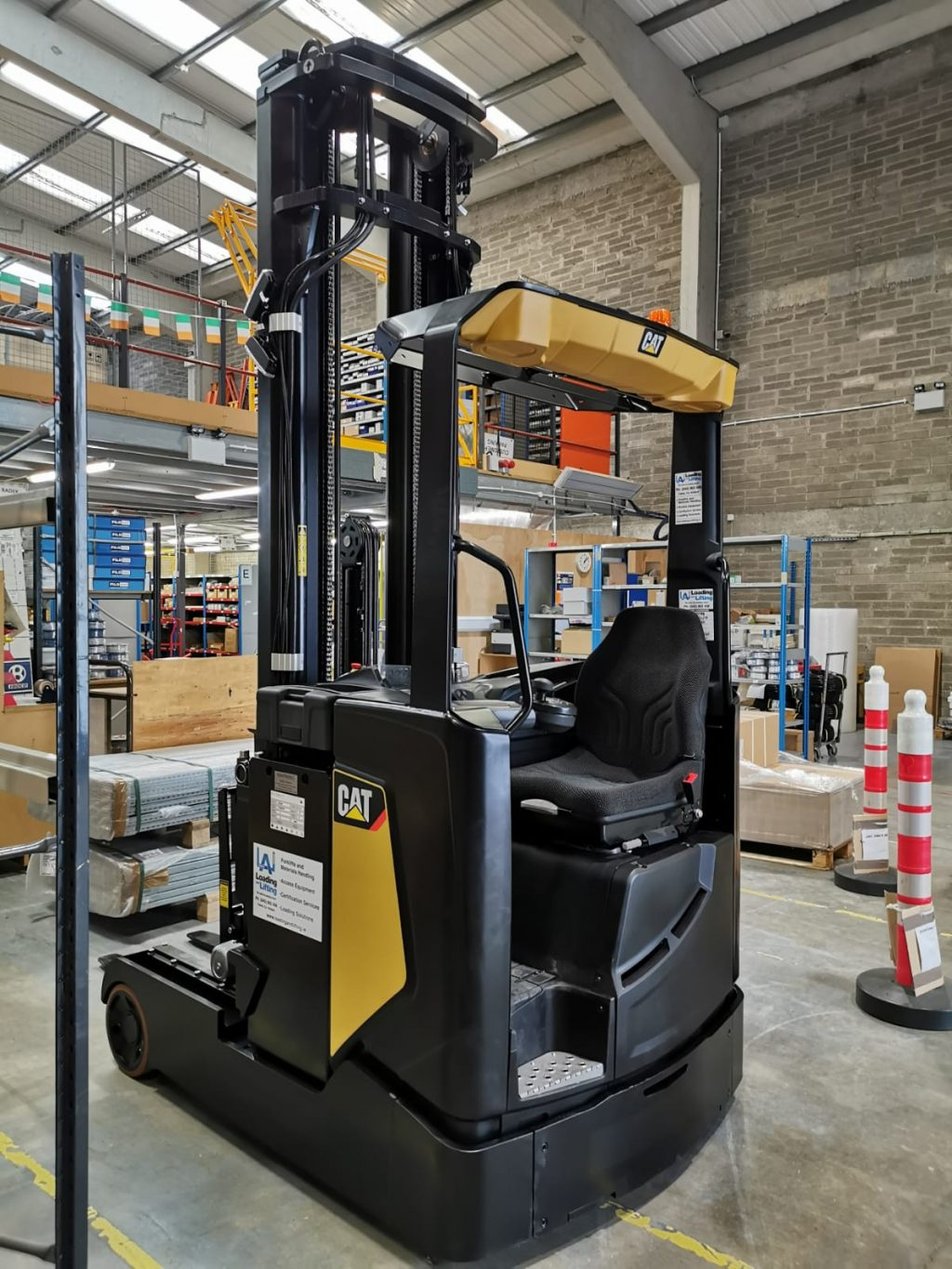 CAT reach truck in warehouse